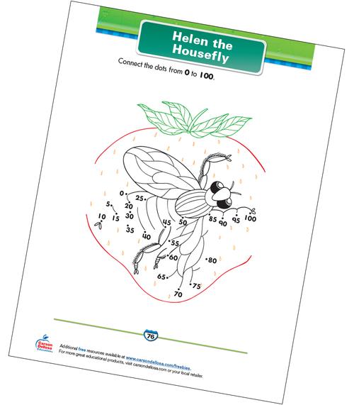 Helen the Housefly Free Printable Sample Image