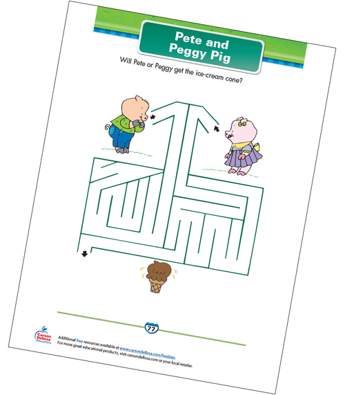 Pete and Peggy Pig Free Printable Sample Image