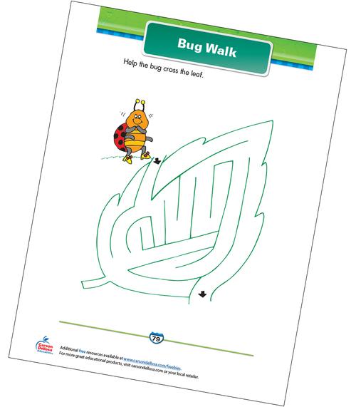 Bug Walk Free Printable Sample Image