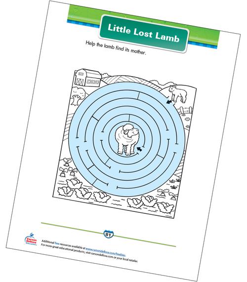 Little Lost Lamb Free Printable Sample Image