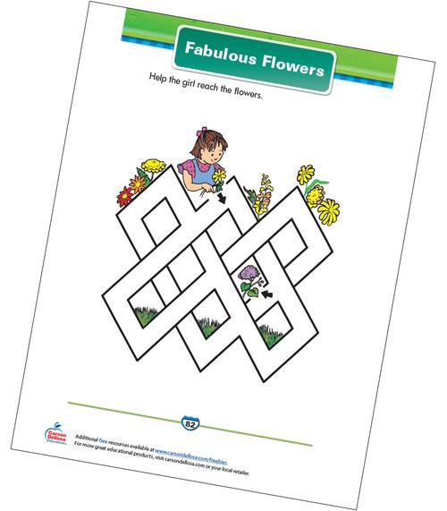 Fabulous Flowers Free Printable Sample Image