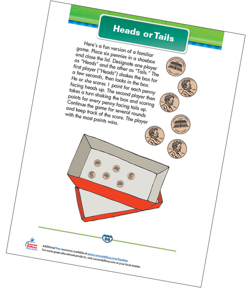 Heads or Tails Free Printable Sample Image