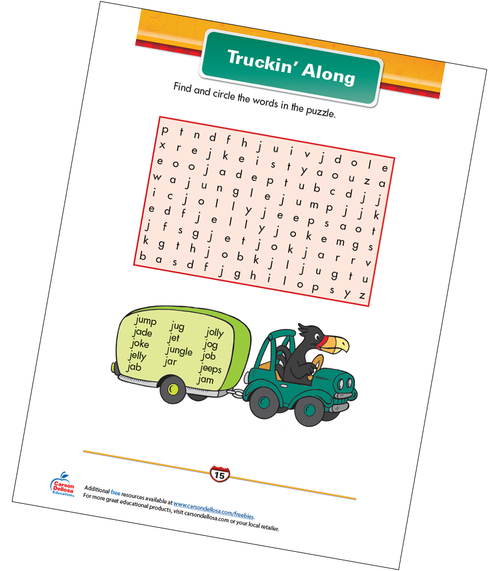 Truckin' Along Free Printable Sample Image