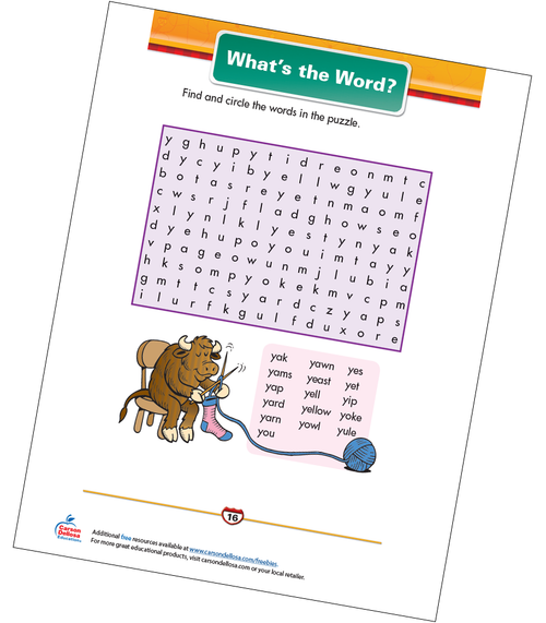 What's the Word? Free Printable Sample Image
