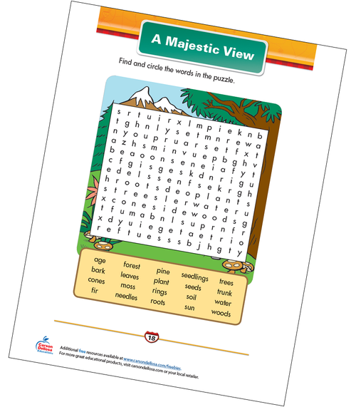 A Majestic View Free Printable Sample Image