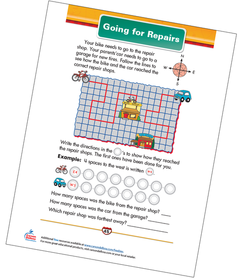 Going for Repairs Free Printable Sample Image