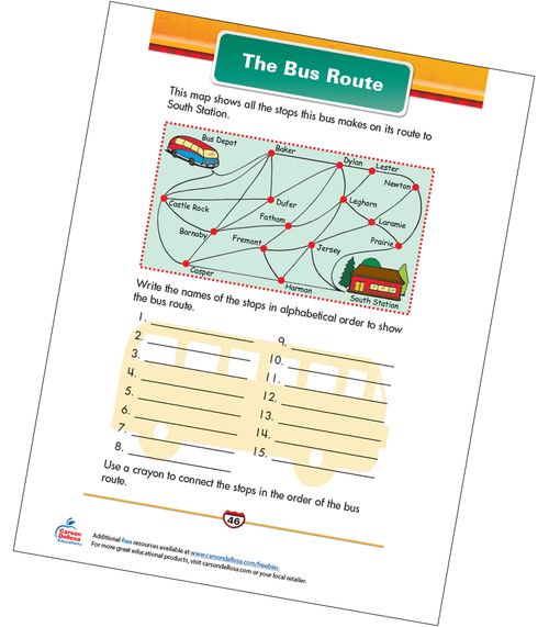 The Bus Route Free Printable Sample Image