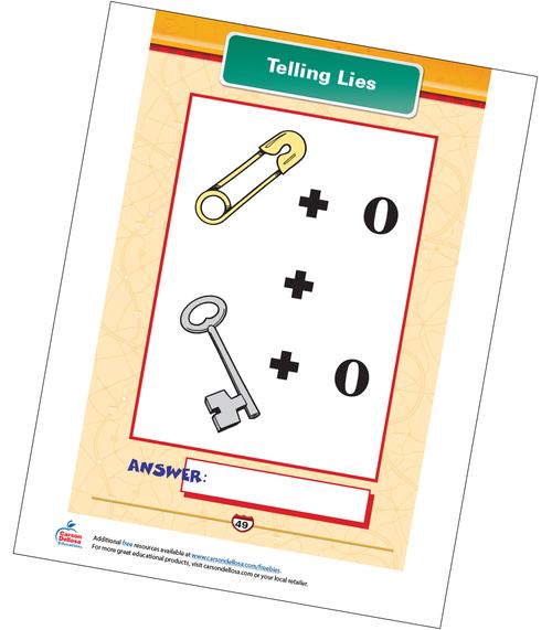 Telling Lies Free Printable Sample Image
