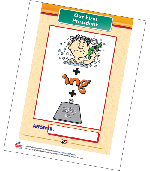 Our First President Free Printable Sample Image