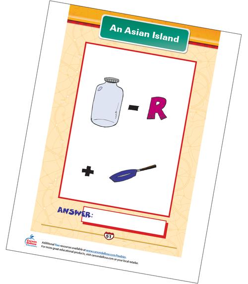 An Asian Island Free Printable Sample Image