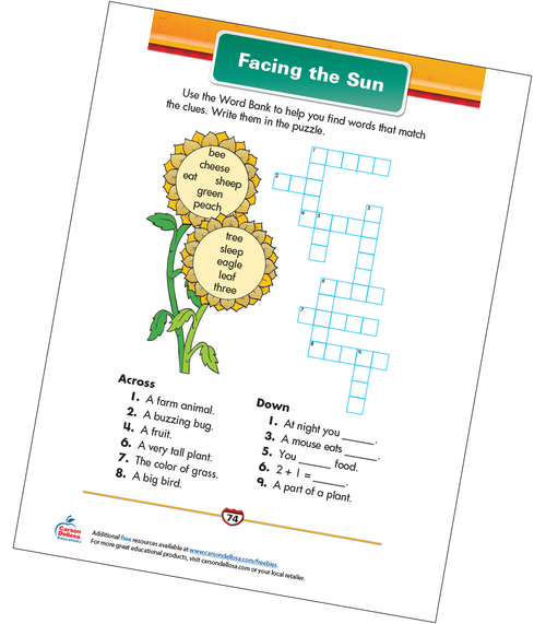 Facing the Sun Free Printable Sample Image