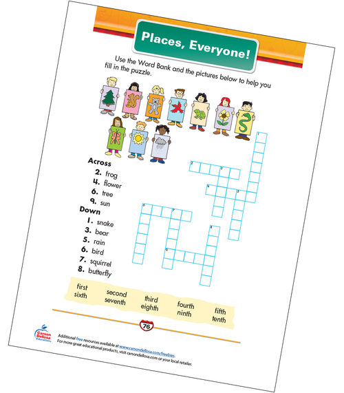Places, Everyone! Free Printable Sample Image