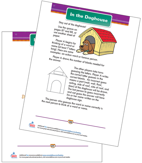 In the Doghouse Free Printable Sample Image