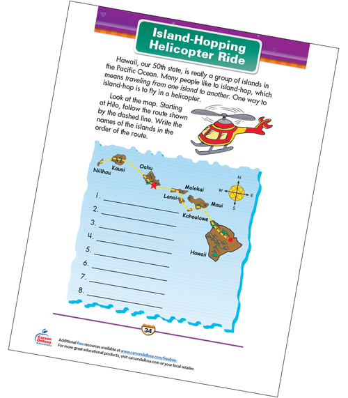 Island-Hopping Helicopter Ride Free Printable Sample Image