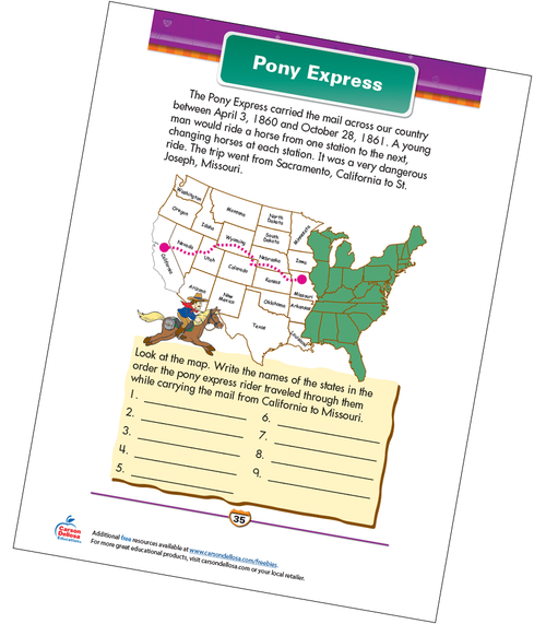 Pony Express Free Printable Sample Image