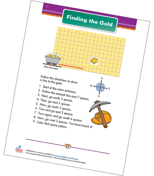 Finding the Gold Free Printable Sample Image