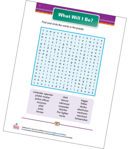 What Will I Be? Free Printable Sample Image