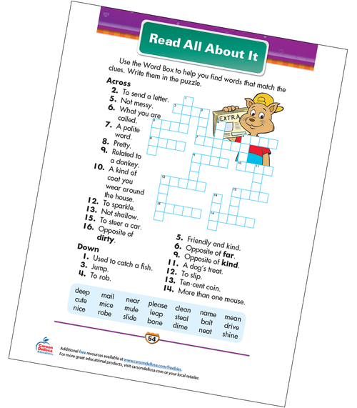 Read All About It Free Printable Sample Image