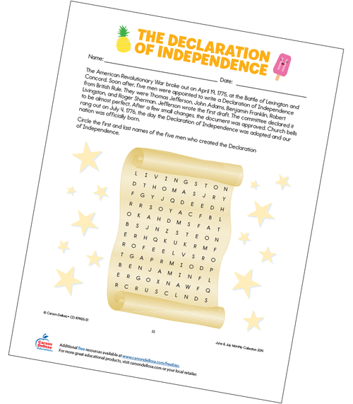 The Declaration of Independence Free Printable