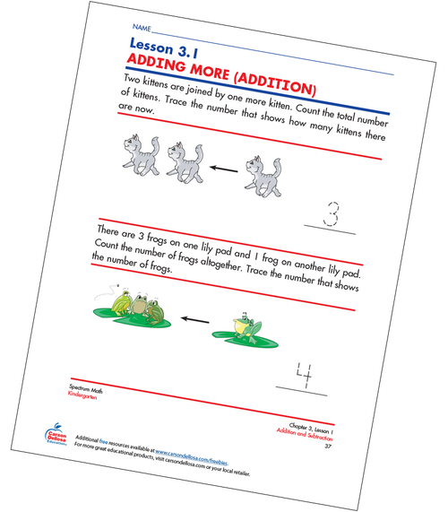 Adding More (Addition) Free Printable Sample Image