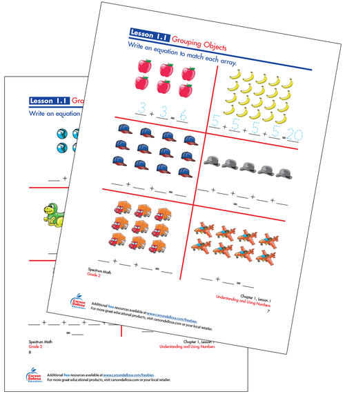 Grouping Objects Free Printable Sample Image