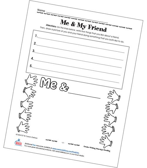 Me & My Friend Free Printable Sample Image