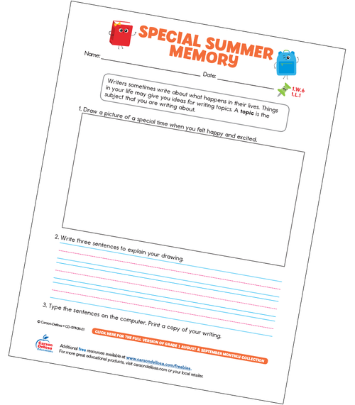 Special Summer Memory Free Printable Sample Image