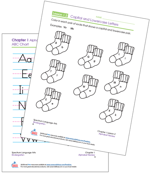 Spectrum® Language Arts for Kindergarten Coloring Capital and Lowercase Letters Workbook