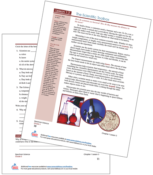 The Scientific Toolbox Free Printable Sample Image