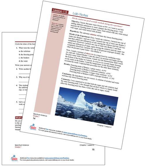 Lab Notes Free Printable Sample Image