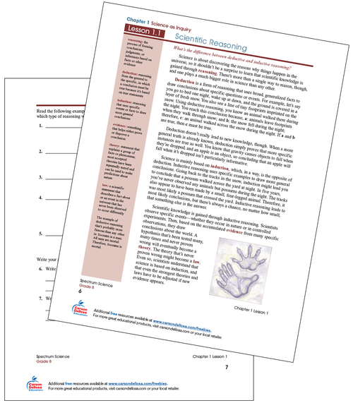 Scientific Reasoning Free Printable Worksheet
