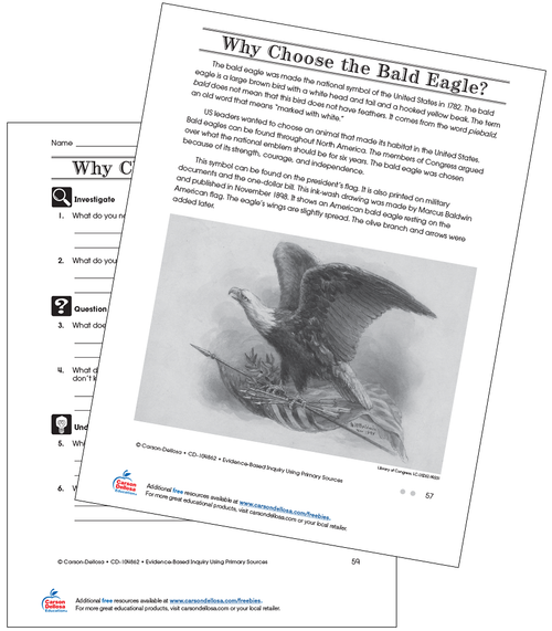 Why Choose the Bald Eagle Grade 4 (On Grade Level) Free Printable Worksheet