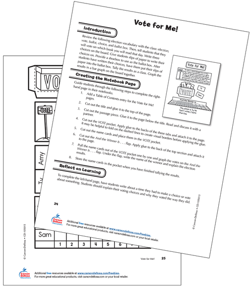 Vote for Me Grade 2 Interactive Free Printable Activity