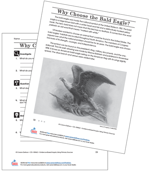 Why Choose the Bald Eagle Grade 4 (Above Grade Level) Free Printable Worksheet