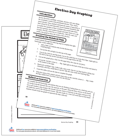 Election Day Graphing Grade 1 Interactive Free Printable Activity