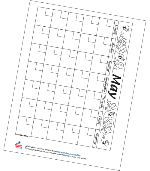 May Calendar Free Printable Resource