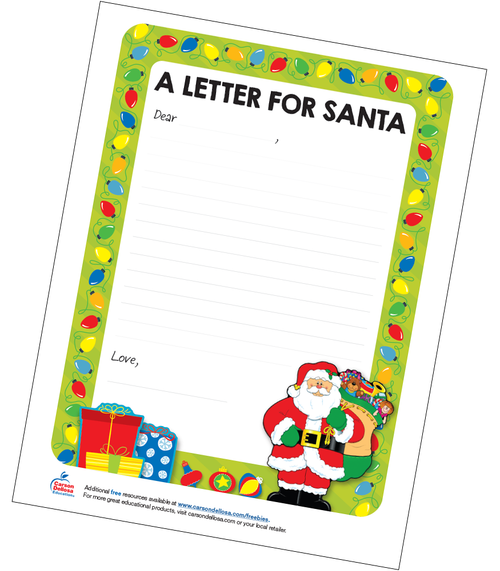 A Letter For Santa Grades K-3 Free Printable Resource