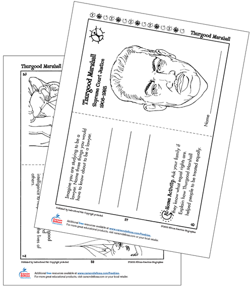 Thurgood Marshall Grades K-2 Free Printable