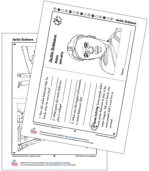 Jackie Robinson Grades K-2 Free Printable