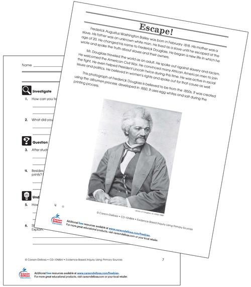 Frederick Douglass Grade 6 (Below Grade Level) Free Printable
