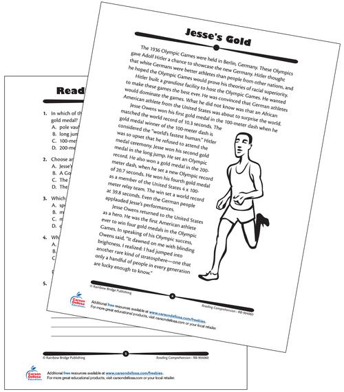 Jesse Owens Grade 8 Free Printable