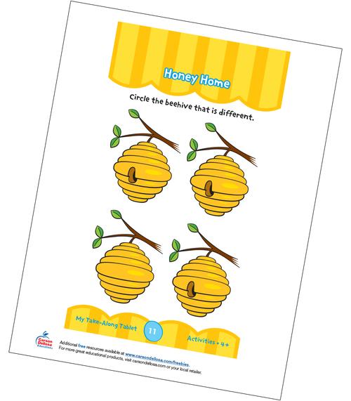 Honey Home Grades PK-K  Free Printable