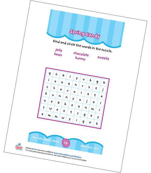 Spring Candy Grades PK-K Free Printable