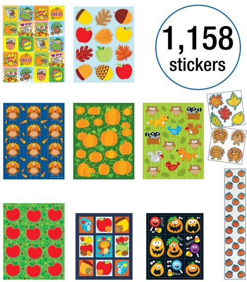 Carson-Dellosa Fall Sticker Collection Teacher