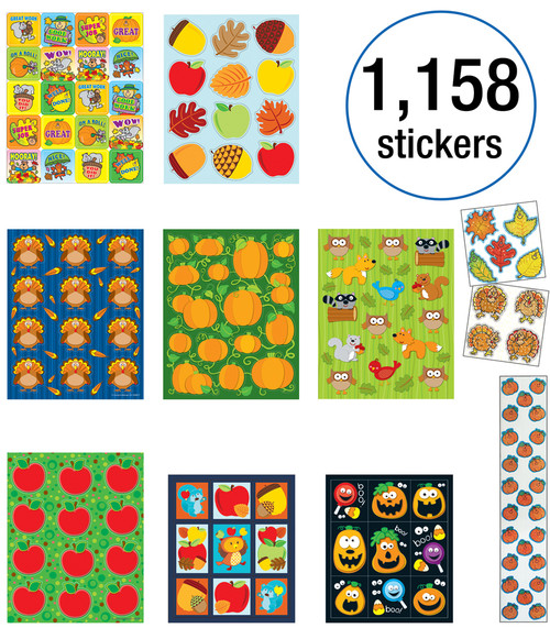 Carson-Dellosa Fall Sticker Collection Teacher
