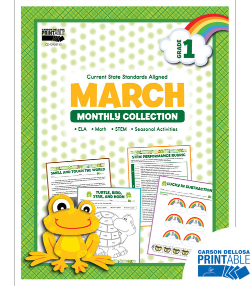 Carson-Dellosa March Monthly Collection, Grade 1 Teacher