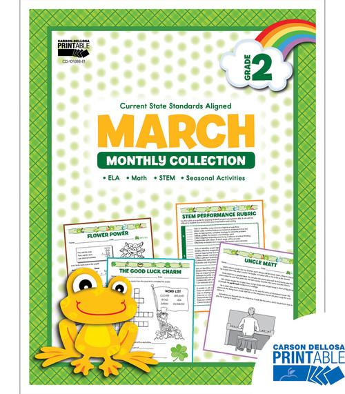 Carson-Dellosa March Monthly Collection, Grade 2 Teacher