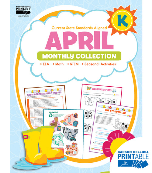 Carson-Dellosa April Monthly Collection, Grade K Teacher