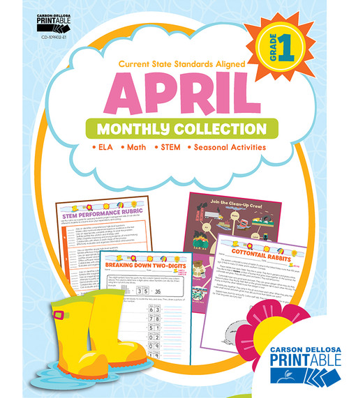 Carson-Dellosa April Monthly Collection, Grade 1 Teacher