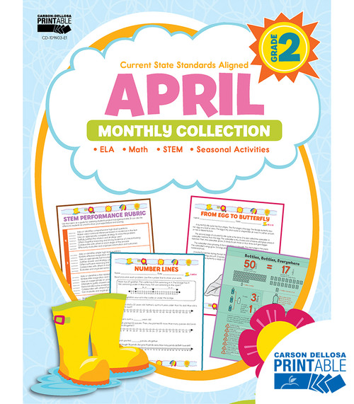 Carson-Dellosa April Monthly Collection, Grade 2 Teacher